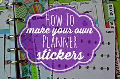 How to make your own planner stickers for your Erin Condren Life Planner or Filofax! Uses the Avery template, great tutorial. Planner Pages, Printable Planner, Planner Stickers, Planner Ideas, Calendar Stickers, Free Printable, Printables, Planer Organisation, Create Your Own Planner