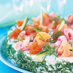 Bild på Smörgåstårta med smak av hav