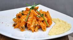 Penne with Creamy Carrot Sauce Pasta Recipe - Gourmandelle