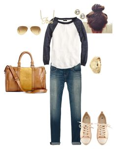 Comfy Casual by angela-reiss on Polyvore featuring polyvore, mode, style, J.Crew, Current/Elliott, H&M, Sole Society, Michael Kors, Swarovski and Ray-Ban