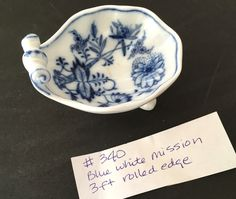 with a Rolled Edge. Salt Cellars, Antique Glass, Salts, Dips, Blue And White, China, Antiques, Room, Antiquities