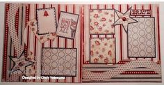 Great layout using Authentique's Freedom collection and Kiwi Lane templates
