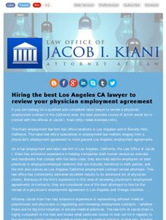 Physician Employment Agreement Review Attorney In Los Angeles Ca