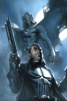 The Punisher & Moon Knight by Gabriele Dell'Otto