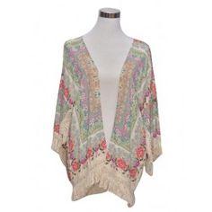 Kimono con estampado floral