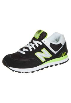 sports shoes b9bbc faf96 New Balance (NB) 574 Lifestyle Classics Dames Zwart Groen Wit.That s  fashjon style and popular color.