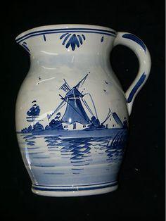 Classic Delft Delftware Pitcher