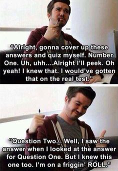Me studying for finals…