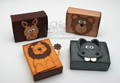 Matchbox-animals  made from punches not sure which ones   http://www.mychicnscratch.com