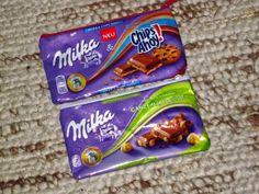 Schokoladentäschchen / Chocolate wrapping pouches / Upcycling