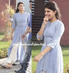 And speaking of Jacqueline Fernandez, how pretty does she look in this palazzo-kurta ensemble! #movie #Kick  Pic: highheelconfidential.com