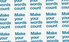 Download the sticker: Make your words count