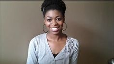 Natural Hair 4C- Easy Afro Hairstyle Tutorial, via YouTube.