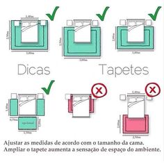 Dica para formas e tamanhos de tapetes conforme o uso. Home Room Design, Interior Design Living Room, House Design, Home Bedroom, Bedroom Decor, Dispositions Chambre, Interior Design Guide, Bedroom Layouts, Feng Shui Bedroom Layout