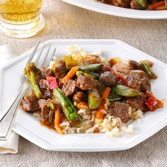 Stir-Fried Steak & Veggies Recipe -Here's a stir-fry that's even faster than Chinese takeout. It's easy, filling and a winner every…