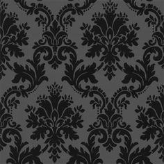 Arthouse Da Vinci Damask Wallpaper Black