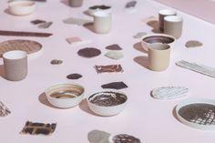 Ceramics by Jetske Visser, Kirstie van Noort and Lotte de Raadt.
