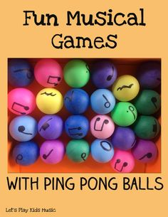 Fun Musical Games with Ping Pongs - Let's Play Music
