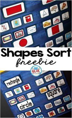 This Shapes Sort freebie is absolutely perfect for an independent or small group math center.