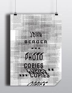 John Berger / Photocopies on Behance