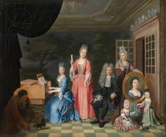 Portrait of a Family in an Interior, c.1700 (oil on canvas)