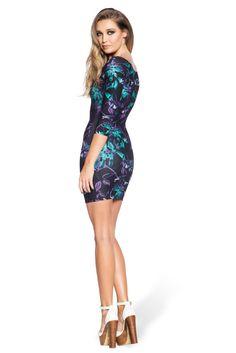 Midnight Hummingbird 3/4 Sleeve Toastie Dress - LIMITED