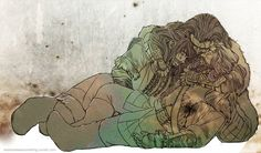 """Thorin, with tears blurring his vision,  looked from the face of his sleeping Fili, to his sleeping Kili. Fili's shirt stained with blood. Kili suffering from hypothermia. He hugged his nephews close to his chest. """"Please...."""" He sobbed. """"Please don't take them....Please..."""" -Fili"""