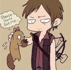 Daryl Dixon fan art, don't know who the artist is but it's a cute picture!