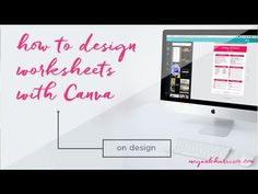 How to Create Online Course Worksheets with Canva! - YouTube