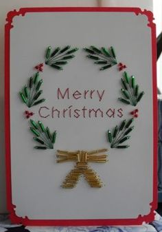 stitched beaded card