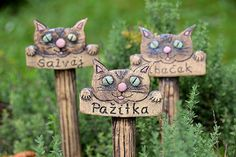 Herb Labels, Plant Labels, Plant Markers, Ceramic Studio, Garden Signs, Garden Stakes, Pottery Designs, Fairy Houses, Clay Creations