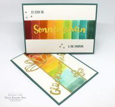 Regenbogen Karte - mit Produkten von Stampin' Up!
