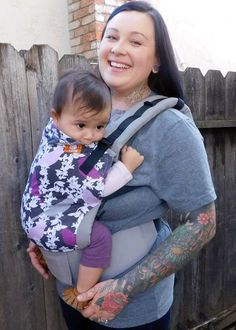 Canvas - Carry Me Away exclusive 'Violet Finch'  TULA BABY CARRIER