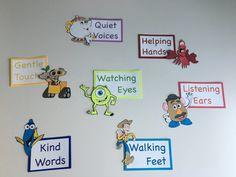 Classroom Rules Version 2 Classroom Rules Version 2 The post Classroom Rules Version 2 appeared first on Toddlers Ideas. Preschool Classroom Themes, Preschool Rooms, Disney Classroom, Daycare Rooms, Classroom Decor Themes, Classroom Design, Classroom Displays, Music Classroom, Future Classroom