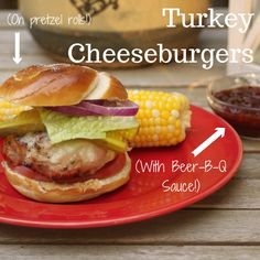 These #turkey #burgers have ground mustard, grated onion and herbs and seasonings incorporated right into the burger. Top 'em with extra-sharp cheddar and a homemade sauce! http://www.rachaelray.com/recipe.php?recipe_id=5929 #BBQ #grilling #dinner