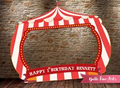Carnival / Circus Frame   DIGITAL FILE  Printable by BolleFineArts