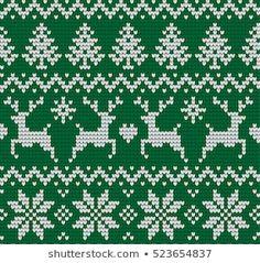 Knitted Christmas New Year Pattern stockvector (rechtenvrij) 525749170 Intarsia Patterns, Fair Isle Knitting Patterns, Knitting Charts, Baby Knitting, Christmas Makes, Christmas And New Year, Christmas Knitting, Christmas Sweaters, Xmas Stockings