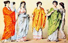 La vestimenta en la Antigua Roma. La ropa de las mujeres romanas consistía en una estola, túnica larga que llegaba hasta los tobillos, que se ponían sobre una túnica básica. Sobre la estola vestían la palla, una especie de manto o velo ligero de variados colores. La palla tenía forma rectangular, mientras que la toga tenía forma semicircular.