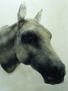 Horse Head (1997) Kendra Haste (?) UK artist working in chicken wire.