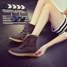 Boots cổ ngắn nữ thời trang, màu sắc cổ điển, phong cách Hàn quốc