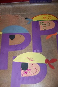 Simple P is for Pirate Craft Fun way to get Atticus in on the unit