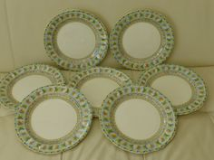 For your consideration is a set of 7 Gien Raphael 7 Dessert Luncheon Plates. Pottery, Plates, Dessert, Ebay, Ceramica, Licence Plates, Dishes, Plate, Desserts