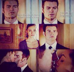 Total fan girl moment, FINALLY!  The Originals 1x20 - Hayley & Elijah kiss