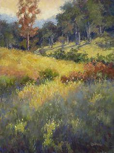 Bits of Sun by Kathy Detrano Pastel ~ 12 x 9