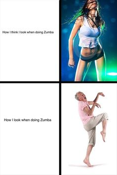 What I look like while doing Zumba! Makes me crack up every time I see this! I do love Zumba tho Zumba Funny, Expectation Vs Reality, Dump A Day, I Love To Laugh, Just For Laughs, Funny Fails, Motivation, Laugh Out Loud, The Funny