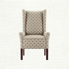 The wing back. The staple of chairs. Stately and fashionable, our Halston chair brings the traditional wing chair into the 21st century. Rolled arms