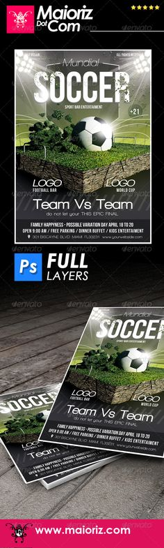 Rio Games Flyer Template PSD Download here    graphicriver - soccer flyer template