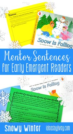 Using mentor sentences from your favorite read-aloud books is a great way to teach grammar and author's craft! These winter-themed passages include everything you need to implement mentor sentences in your kindergarten and first grade classrooms this season. Click the pin to see all the activities included!