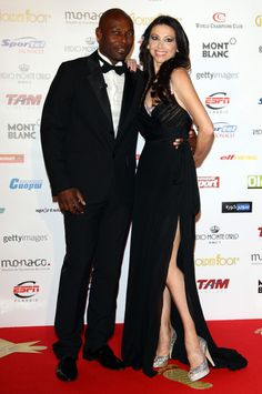 Masters of Ceremonies at the Golden Foot Award  Lorena Baricalla and Jimmy Jean-Louis #goldenfoot #football #soccer #legend #player #monaco #glamour #people #celebrities #masterofceremonies #actor #actress #redcarpet #hautecouture @giannicalignano @Montblanc @jimmyjeanlouis @Lorena Iovescu Baricalla