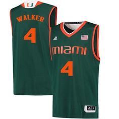2e8801cd7e8 Men #4 Lonnie Walker Miami Hurricanes College Basketball Jerseys Sale-Green